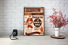 Art print POSTER / Canvas THE GREATS OF 50s ROCK 'N ROLL