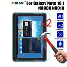 2pcs Genuine Clear Tempered Glass 9H Screen Protector For Samsung Galaxy Tablet