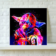 HD Print Oil Painting Home Decor Art on Canvas Star Wars Yoda Unframed
