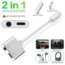 2 in 1 Lightning Adapter Splitter Audio & Charge For iPhone 7 7+ iPhone 8 X 8+