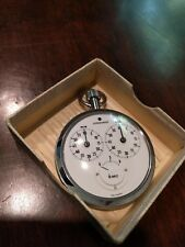 Vintage JUNGHANS Track Micro-Second Timer 7 Jewels case pocket watch stop watch
