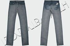 DIOR HOMME 950$ Authentic New Skinny Blue 17.5cm Tie Dye Coated Denim Jeans