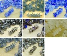 40pcs Crystal Small Bell Flower Caps Czech Glass Beads 5mm x 7mm