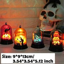 Halloween Bobcats Witch Cat Pumpkin Color-Changing Lamp Party Decor LED Lantern