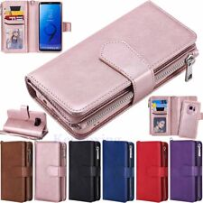 Magnetic Removable Zipper Wallet Flip Leather Case Cover For Samsung S10 S9 S8+