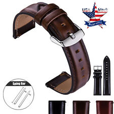 20 22 Genuine Leather Wristwatch Strap For Samsung Galaxy Watch 42mm 46mm Band