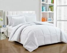 NEW BOX STITCHING DOWN ALTERNATIVE COMFORTER 3-PIECE SET CHOOSE SIZE & COLOR 1