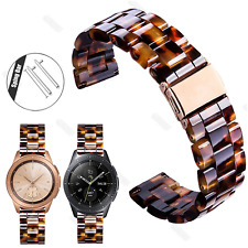 Tortoise Shell Resin watch Band Strap Bracelet For Samsung Galaxy Watch 42/46mm