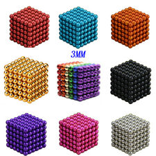 Fun 3mm 216pcs Neodymium Sphere Magic Balls Iron Cube Ball Fidget Stress Relief