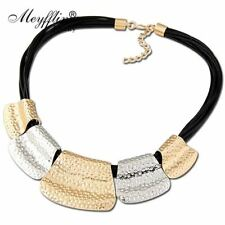 Collares Fashion Statement Necklaces & Pendants For Women Multilayer PU Leather