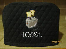 Toaster Appliance Cover 2 or 4 Slice, Choose Black, Red or Cream/Ivory Color