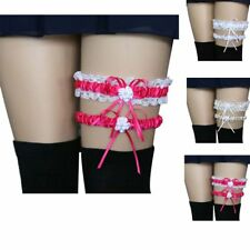 2Pcs Sexy Fashion Lace Floral Bow Garter Belts Elastic Wedding Bridal Leg Ring