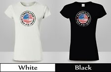 Undefeated World War Champ Belt USA America T-Shirt WoMan Black&White Tee