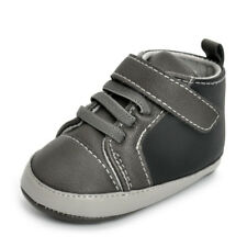 Infant Baby Boy Shoes Toddler Sneakers Infant Soft Sole Ankle PU Baby Crib Shoes