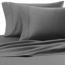NEW COMPLETE HOME BEDDING ITEM 800TC GRAY SOLID 100% COTTON CHOOSE SIZES & ITEM