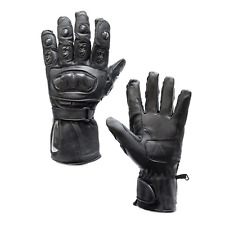 Men Motorcycle Leather Gloves Hard Knuckle Rider Biker Riding Racing Black S-3XL