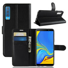 Flip Leather Wallet Case for Samsung Galaxy A7 2018/J4 J6 Plus Card Holder Cover