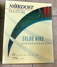 NORDOST Solar Wind Interconnect 0.6/1//1.5/2M Length Termination RCA 7.5pF/ft