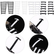 12/16 X Elastic Silicone No Tie Black & White Shoe Laces For Adults Kids Shoes