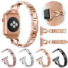 Stainless Steel Bling Watch Band Strap for Apple Watch 38 42 40 44 mm Series 4 3