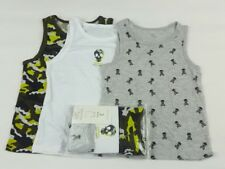 BOYS KIDS VESTS  3 -PACK - FROM THE AGES OF 6-15 YRS  SKULL  PRIMARK