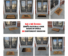Natural Coir Door Mat 24 X 36 Inches Entrance Floor Outdoor WITH FREE RUBBER MAT