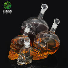 Crystal Head Vodka Bottle Skull Head Wine Glass With Tap Gothic Cup Decanter New