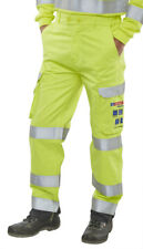 ARC FLASH HI VIZ TROUSERS SATURN YELLOW / NAVY