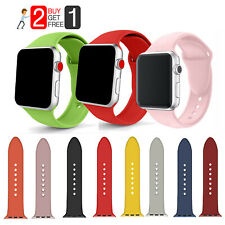38/42MM Soft Silicone Strap Replacement iWatch Band For Apple Watch Series 3 2 1