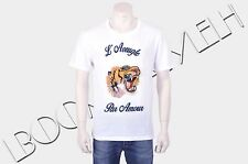 GUCCI 640$ Authentic New White Cotton Tiger Embroidery Tshirt