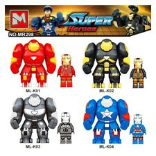 4pcs/lot Mr298 DC Marvel Super Heroes Iron Man With Hulkbuster Model Building Bl