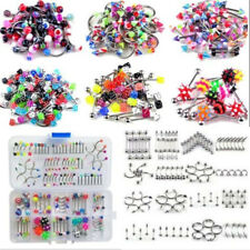 105PCS Wholesale Sexy Body Piercing Eyebrow Jewelry Belly Tongue Bar Ring Lot