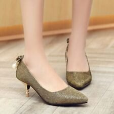 High Heels Slip-on Women Shoes Pointed Toe Shallow Mouth Solid Pattern