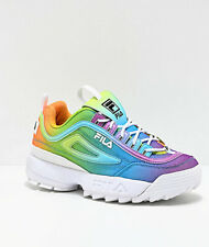 Womens Fila Disruptor II Tie Dye Multi Rainbow Athletic Shoe NEW 2