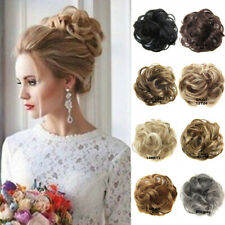 Real Natural As Human Hair Extension Synthetic Hair Bun Curly Donut Hiar Piece