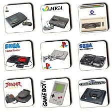 Retro Consoles Gaming Gifts - Gaming - Coasters - Wood - Gaming Gift - Multi-Buy