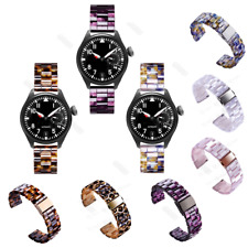 Luxury Leopard Tortoise Resin Watch Band Strap For Samsung Galaxy Watch 42/46mm