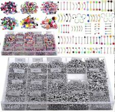 105x Bulk lots Body Piercing Eyebrow Jewelry Belly Tongue Bar Ring Wholesale