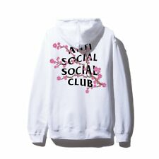 NIP Anti Social Social Club Cherry Blossum White Hoodie NWT DS Hooded Sweatshirt