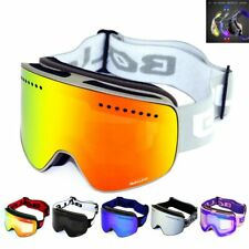 Ski Goggles with Magnetic Double Layer polarized Lens Skiing Anti-fog UV400 Snow