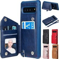 For Samsung Galaxy S10 S9 S8 Note10 Magnetic Flip Leather Wallet Card Case Cover