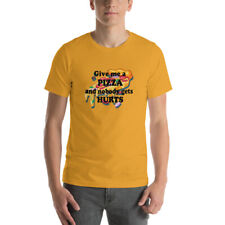 Pizza T Shirt Food Funny Slogan With Slice Tee Brand New 2020