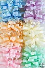 Ribbon Hair Bows Blue Pink Peach Green Ivory Lavender!