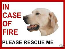"""INCASE OF FIRE RESCUE"" DOG SIGN,WITH YOUR CHOSEN IMAGE"