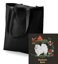 Japanese Spitz Tote Bag  Embroidered by Dogmania