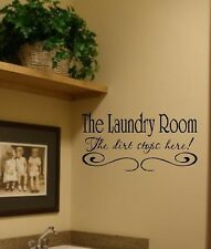 Laundry Room Vinyl Wall Decal Quote Sticky Art