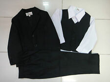 BNWT BOYS FORMAL SUIT 4 Pcs Tuxedo/Wedding Christening Outfit Dress SIZE 00-16