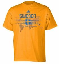 adidas Sweden World Cup  WC 2010 Country Pride Soccer Shirt Brand New Yellow