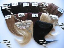 "8"" Choose Color Black Medium Brown Auburn Clip On Bangs Human Hair Extensions"
