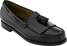 Bass Layton Mens Leather Loafers Black B,D,EEE,5E